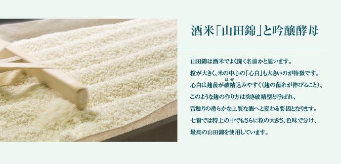 酒米「山田錦」と吟醸酵母